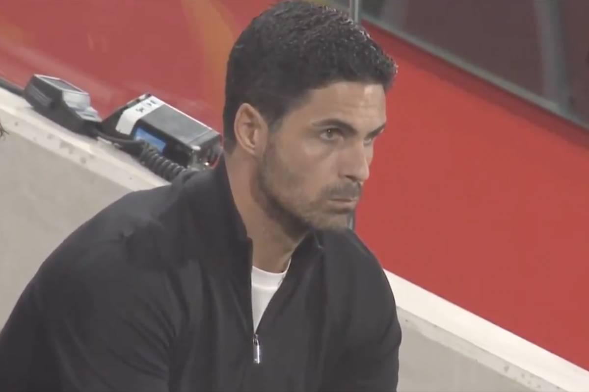 Arteta looks furious after Arsenal's first-half shocker