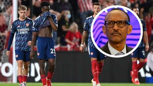 Arsenal fans don't deserve this – Rwanda President Kagame after Brentford loss