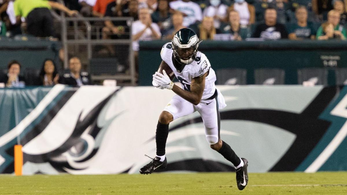 DeVonta Smith doesn't feel he's shaking off rust after missed time; Eagles rookie, Nick Sirianni judge debut