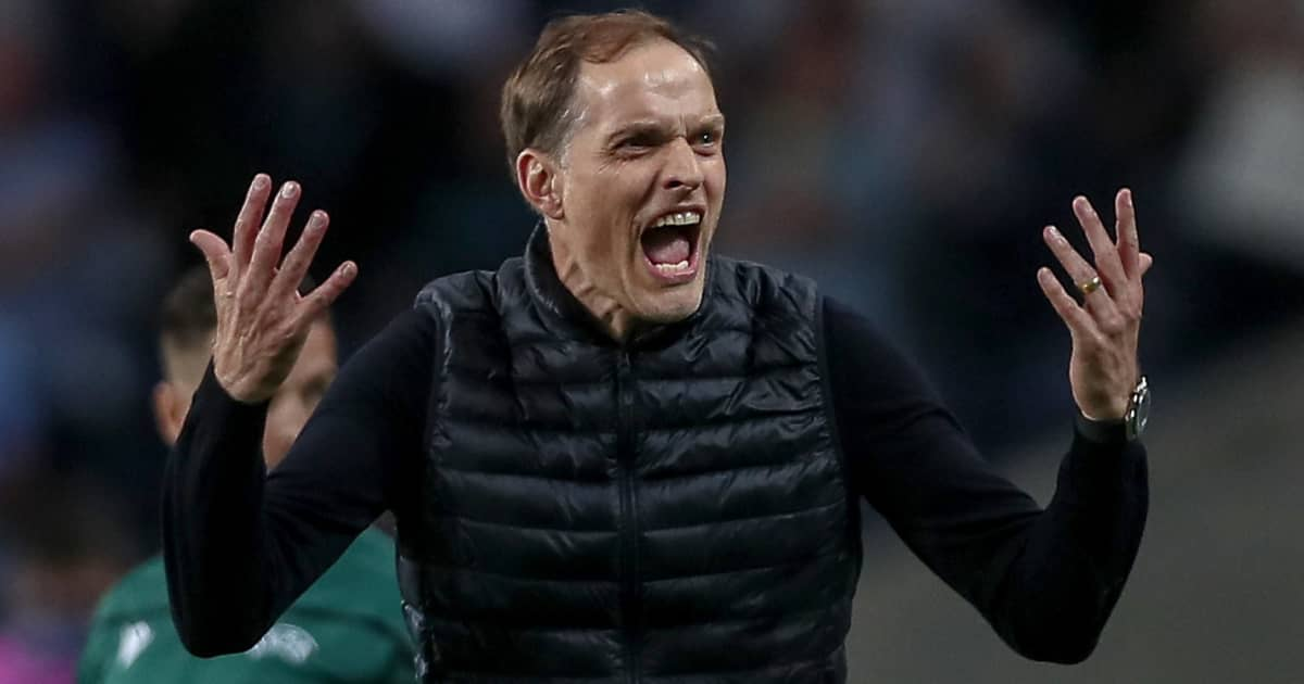 Thomas Tuchel emotional during Champions League final, Chelsea, May 2021,