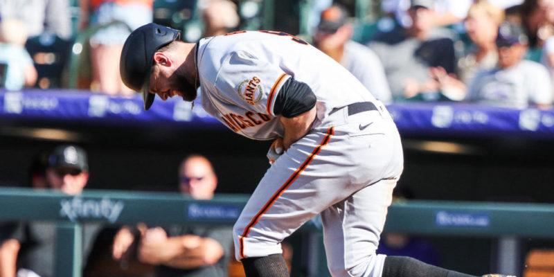 NL West leading Giants lose home run leader Brandon Belt to broken left thumb