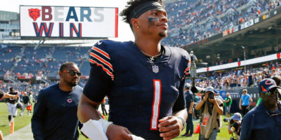 Justin Fields named Bears starter against Browns in wake of Andy Dalton injury; Nick Foles to serve as backup