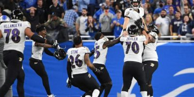 Ravens' Justin Tucker stuns Lions with NFL record-setting 66-yard field goal on final play of game