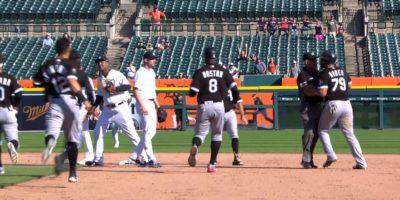 White Sox-Tigers benches clear after José Abreu HBP
