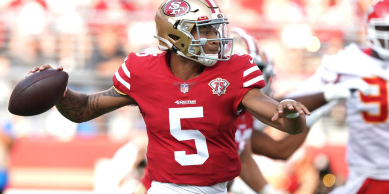 Trey Lance to make first NFL start vs. Cardinals with Jimmy Garoppolo out with a calf injury
