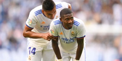Real Madrid left sweating on Alaba availability for Clasico as he returns from Austria duty with knee injury
