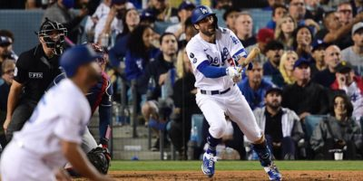 Dodgers' Chris Taylor makes postseason history with three home runs in Game 5 of NLCS vs. Braves