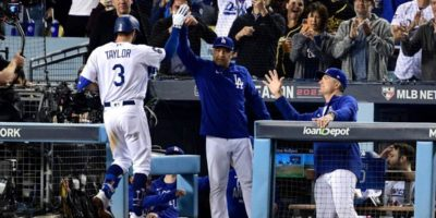 Dodgers vs. Braves NLCS: Chris Taylor becomes 11th player to hit three home runs in MLB playoff game
