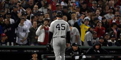 Gerrit Cole pulled after just six outs as Red Sox stun Yankees early in AL wild card game