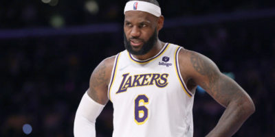Lakers' LeBron James says leg 'sore' after scary collision, listed as probable Tuesday vs. Spurs