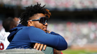 Ronald Acuña Jr. says being sidelined for Braves playoff run is 'one of the hardest moments' of his career