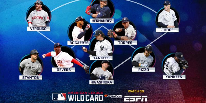 Yankees-Red Sox AL Wild Card Game position breakdown